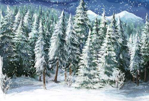 Katebackdrop:Kate Christmas Winter Forest Trees Backdrop for Photography