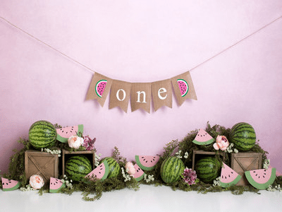 Katebackdrop:Kate 1st Birthday Watermelon Backdrop Designed by Megan Leigh Photography