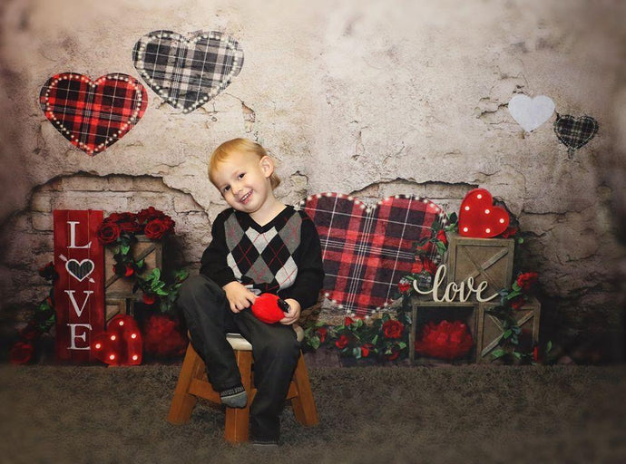 Katebackdrop:Kate Valentine's Day Brick Wall Backdrop Designed by Megan Leigh Photography