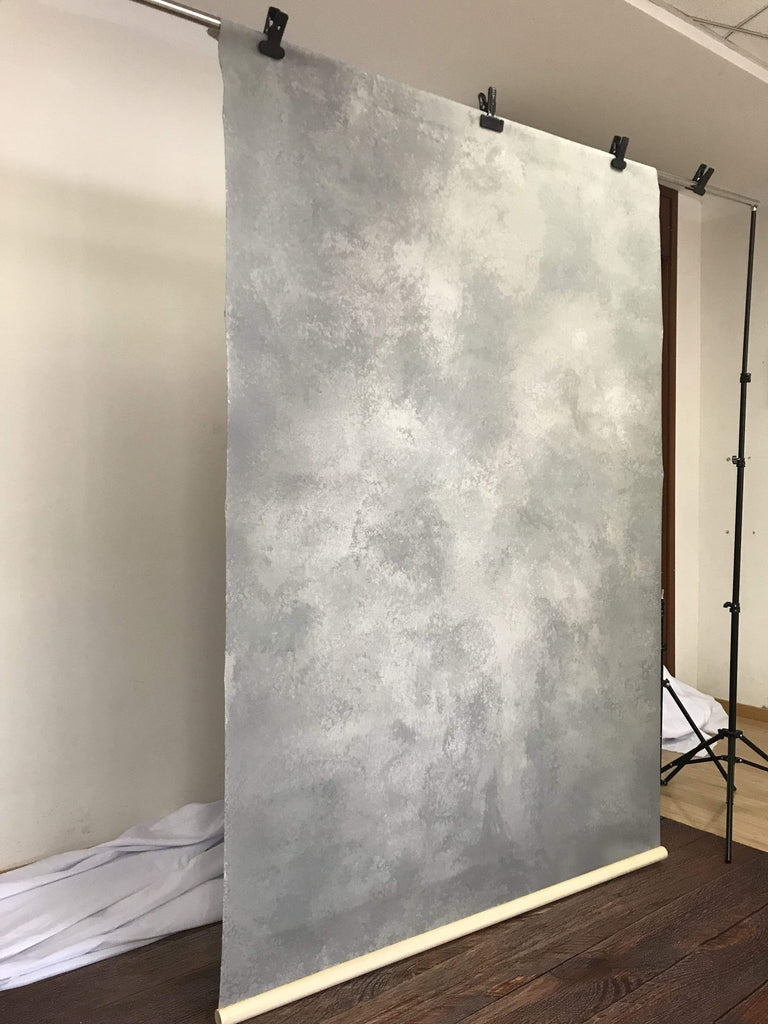 Katebackdrop£ºKate Hand Painted Abstract Texture Cold Grey Backdrops