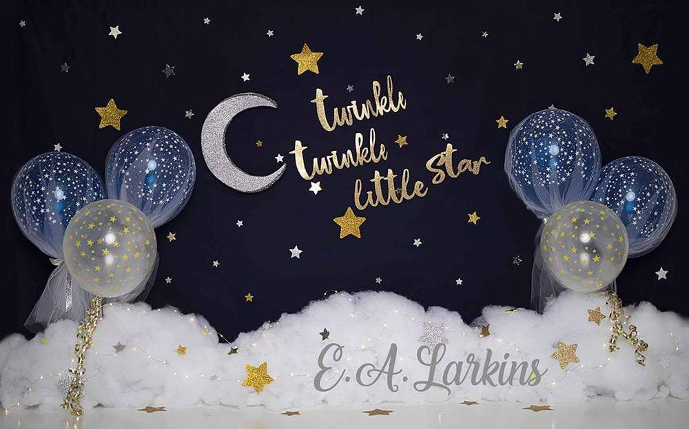Katebackdrop£ºKate  Twinkle Stars with Balloons Backdrop for Photography Designed By Erin Larkins