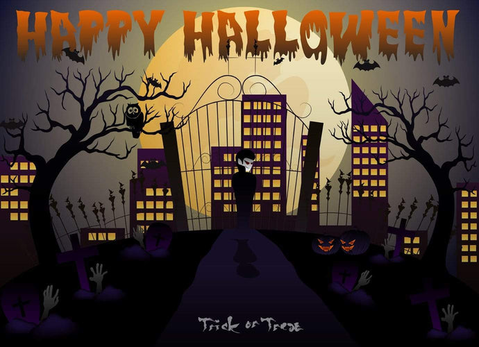 Katebackdrop:Kate Halloween Town Backdrop Trick Photography Backdrop