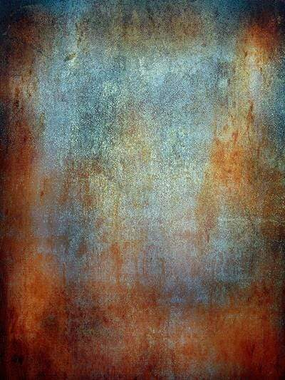 Katebackdrop:Kate Abstract Vintage Rust color Textured Wall Rusty Backdrop