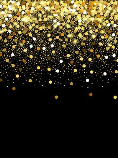 Katebackdrop:Kate Glitter Gold Black Bokeh Backdrop Baby Photos birthday New Year