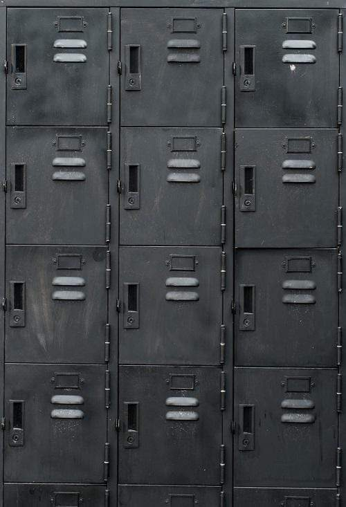 Katebackdrop:Kate Retro Dark Locker Cabinet Sports Backdrop for Photography