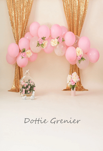 Katebackdrop£ºKate Balloons and Decorations Birthday Backdrop for Children Designed by Dottie Grenier