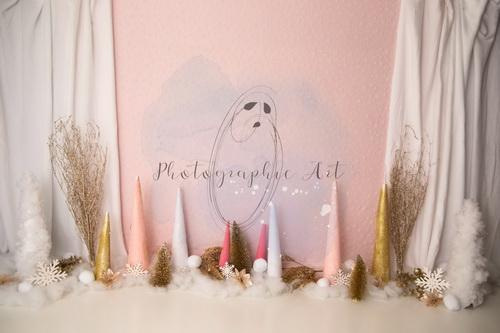 Katebackdrop£ºKate Pink Sparkly Winter Wonderland Backdrop Designed by Jenna Onyia