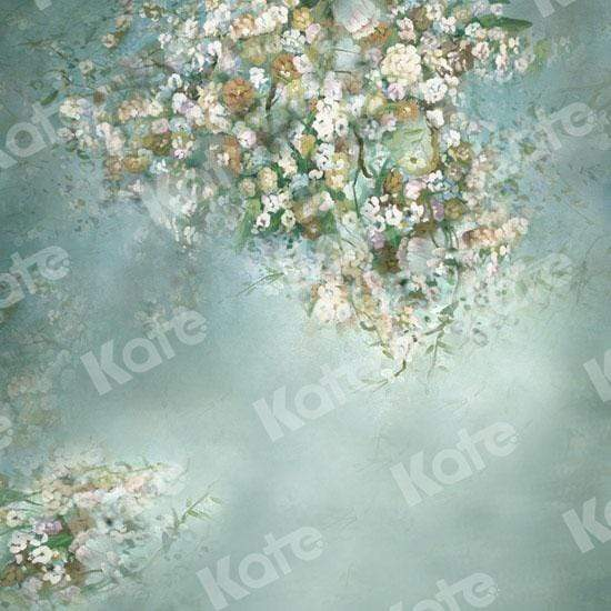 Katebackdrop£ºKate Painting Like Green Spring Flowers backdrop printed Background