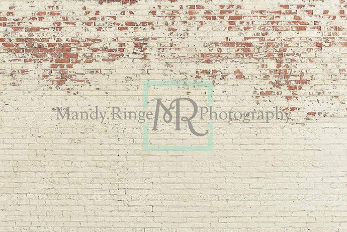 Katebackdrop£ºKate Shabby Peeling Cream Brick Backdrop Designed by Mandy Ringe Photography