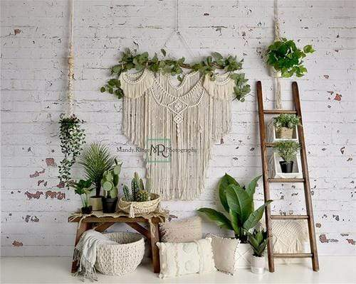 Katebackdrop:Kate Spring Boho Macrame Room Backdrop Designed By Mandy Ringe Photography