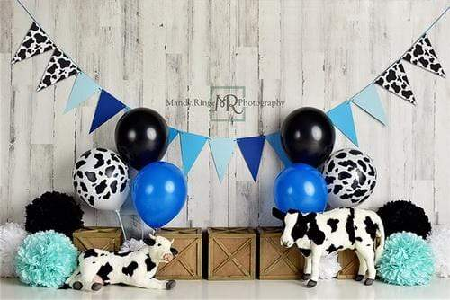 Katebackdrop£ºKate Cow Birthday for Boys Children Backdrop Designed By Mandy Ringe Photography