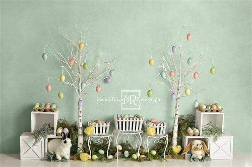 Cargar imagen en el visor de la galería, Katebackdrop:Kate Easter Bunnies and Chicks Backdrop Designed By Mandy Ringe Photography