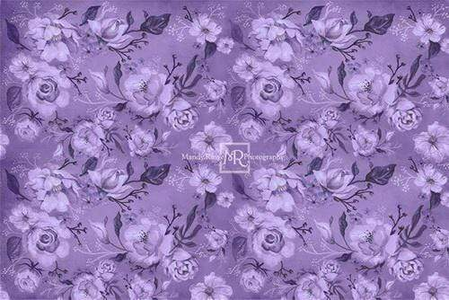 Katebackdrop£ºKate Purple Floral Pattern Backdrop Designed By Mandy Ringe Photography