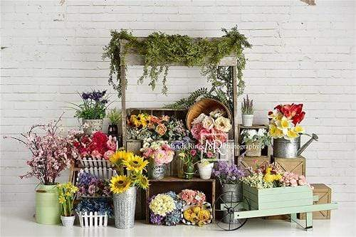 Katebackdrop:Kate Spring Flower Stand Backdrop Designed By Mandy Ringe Photography