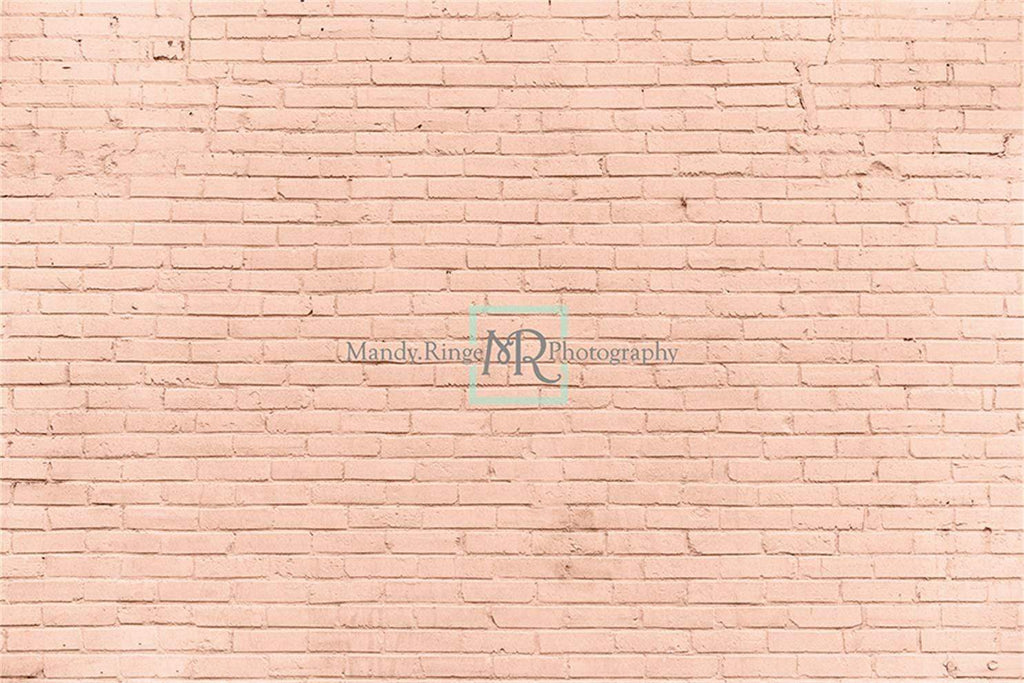 Katebackdrop£ºKate Peach Brick Photo Backdrop Designed by Mandy Ringe Photography