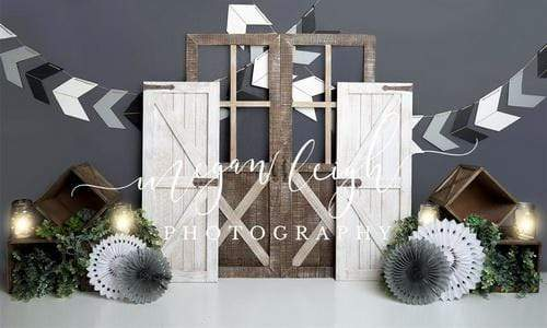 Katebackdrop:Kate Boy Gray Rustic Children Backdrop Designed by Megan Leigh Photography