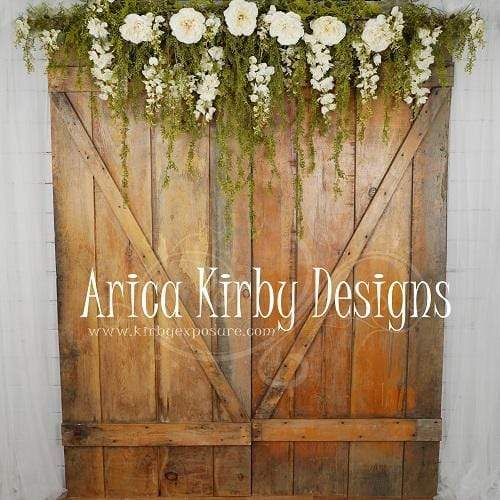 Katebackdrop:Kate Romantic Barn Doors Mother's Day backdrop designed by Arica Kirby