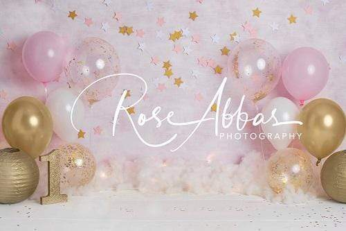 Katebackdrop:Kate Birthday Children Balloons Pink Backdrop Designed By Rose Abbas