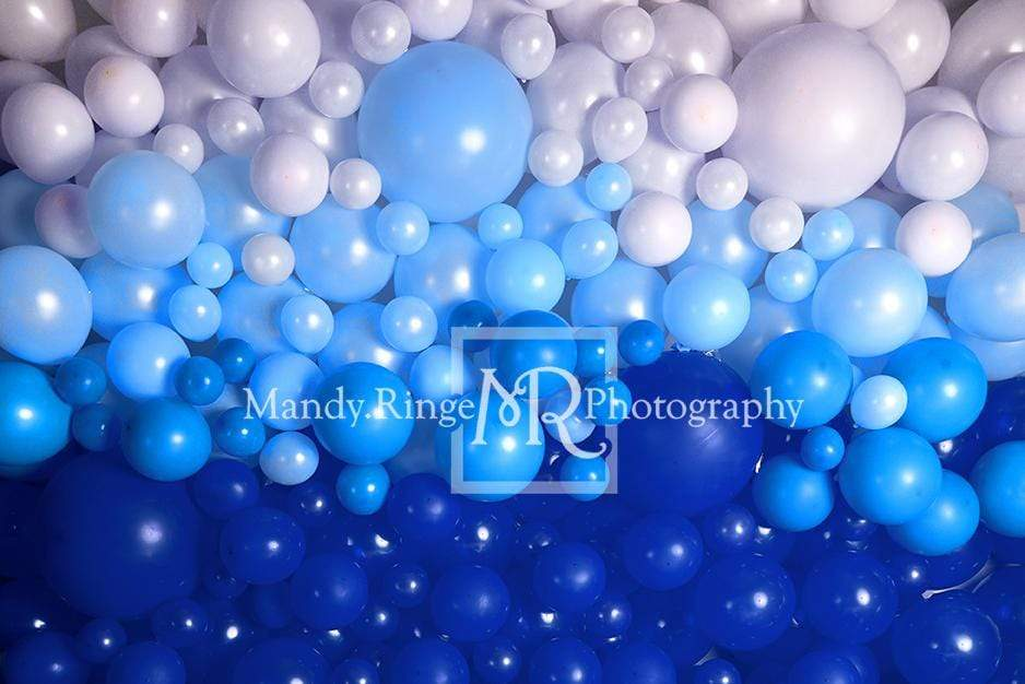 Katebackdrop£ºKate Shades of Blue Balloon Wall Children Backdrop for Photography Designed by Mandy Ringe Photography