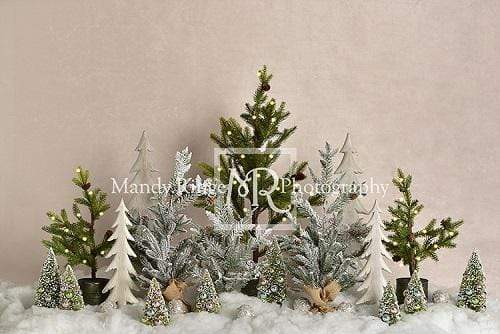 Cargar imagen en el visor de la galería, Katebackdrop:Kate Simple Christmas Trees Snowy Backdrop for Photography Designed By Mandy Ringe Photography