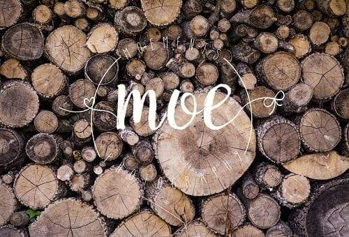 Cargar imagen en el visor de la galería, Katebackdrop£ºKate Autumn Wooden Pile Backdrop for Photography Designed By Moements Photography