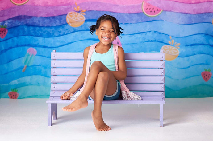 Katebackdrop:Kate Watercolor Stripes Summer Backdrop for Photography designed by Jerry_Sina