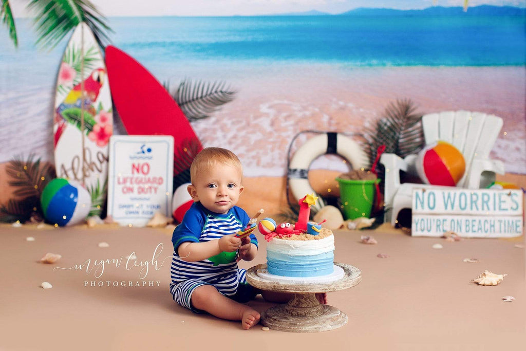 Katebackdrop:Kate Beach Day Sea Summer Backdrop for Photography Designed by Megan Leigh Photography