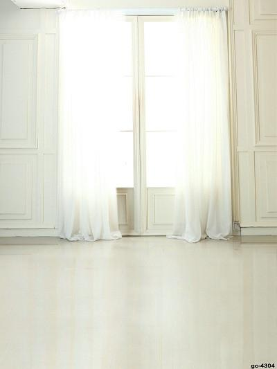 Katebackdrop:Kate White Curtain Wedding Backdrop Indoor Window Castle Photo