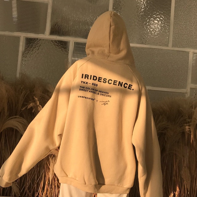 """IRIDESCENCE"" Ulzzang Oversized Hoodie-Hoodie-Kawaii Peach Kawaii Shop"