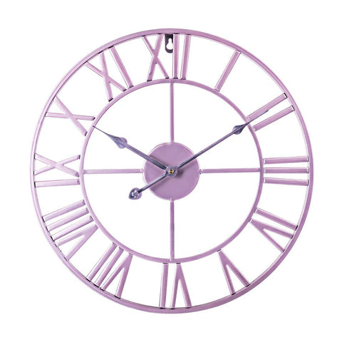 Horloge murale Industrielle Couleur Rose