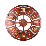 Horloge Industrielle Or Rouge