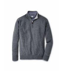 Peter Millar Crown Soft Merino-Silk Quarter-Zip