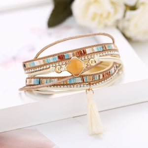 Aztec Multi-Layer Tassel Bracelet