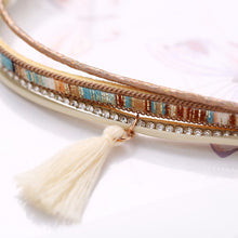 Load image into Gallery viewer, Aztec Multi-Layer Tassel Bracelet