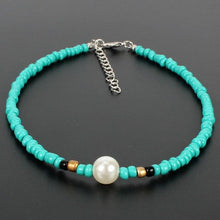 Load image into Gallery viewer, Beaded Aquamarine & Pearl Necklace
