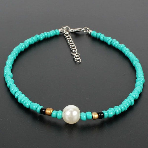 Beaded Aquamarine & Pearl Necklace