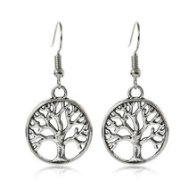 Load image into Gallery viewer, Round Tree of Life Earrings