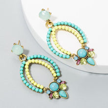 Load image into Gallery viewer, Multi-Colour Drop Earrings