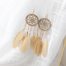 Load image into Gallery viewer, Dreamcatcher Feather Earrings