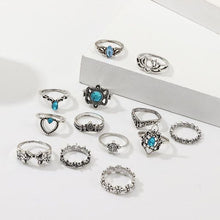 Load image into Gallery viewer, Bohemian style rings set uk