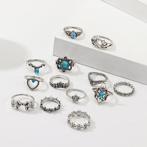 Bohemian style rings set uk