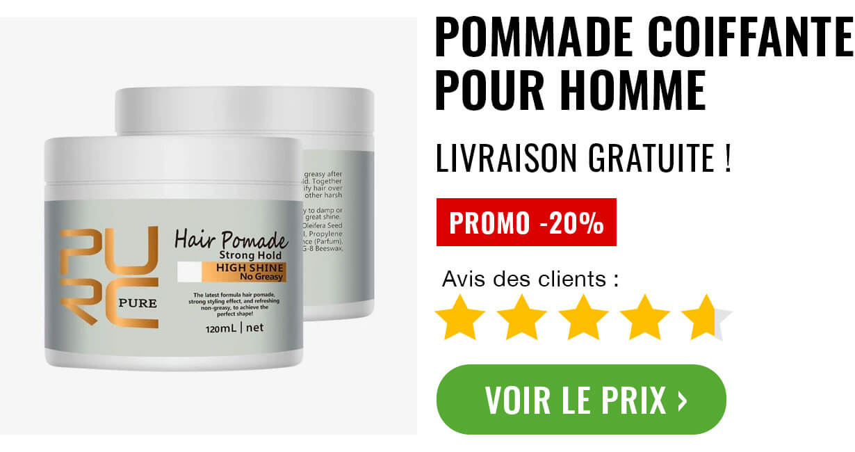 pommade coiffante coiffure homme