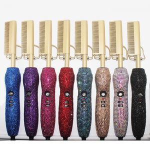 Bling Electric Ceramic Hot Pressing Comb