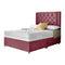 "Eastfield Divan Bed Frame With 24"" Chesterfield Headboard"
