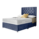 "Divan Bed Frame With 54"" Floor Standing Chesterfield Headboard"