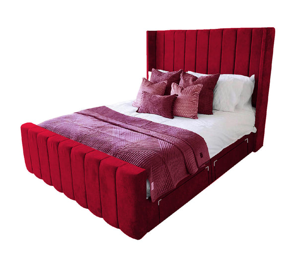 "Divan Bed With 54"" Winged Headboard"