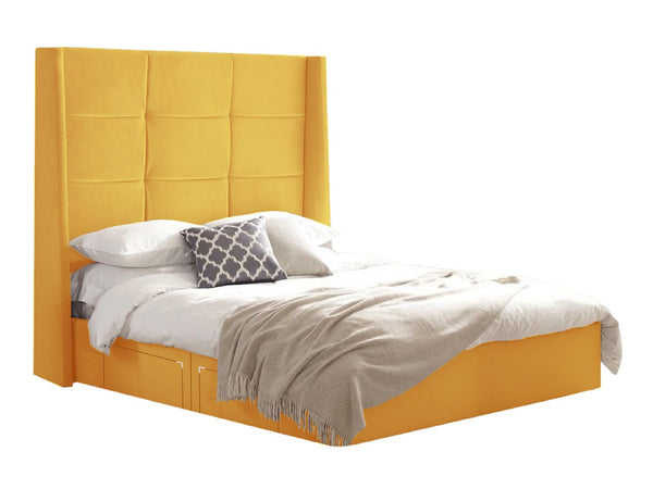 "Divan Ottoman Storage Bed With 60"" Winged Headaboard"
