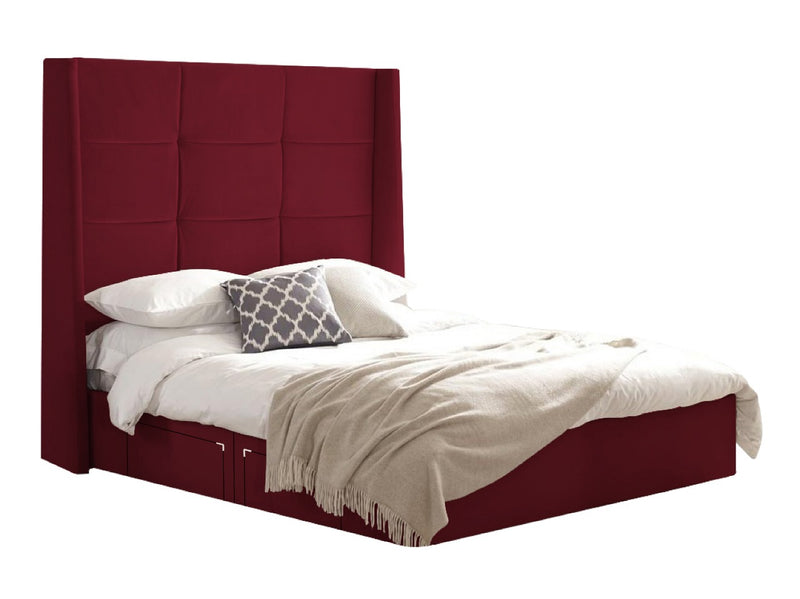 "Divan Bed With 60"" Winged Headboard"