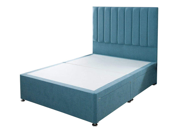 "Divan Bed Frame With 54"" Floor Standing Padded Headboard"