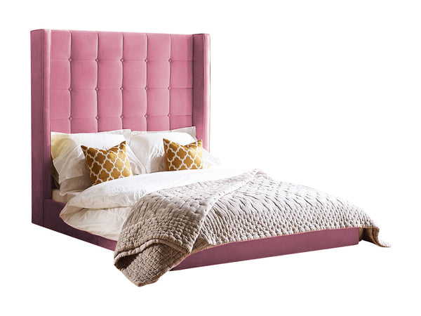 "Divan Bed With 60"" Winged Headaboard"